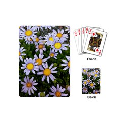 Yellow White Daisy Flowers Playing Cards (Mini) by yoursparklingshop