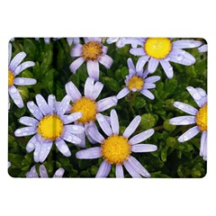 Yellow White Daisy Flowers Samsung Galaxy Tab 10 1  P7500 Flip Case by yoursparklingshop