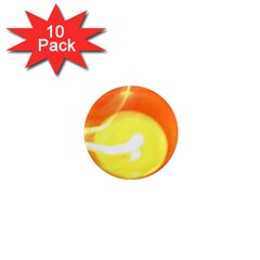 Orange Yellow Flame 5000 1  Mini Button Magnet (10 Pack) by yoursparklingshop