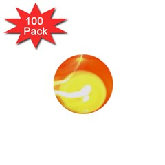 Orange Yellow Flame 5000 1  Mini Button (100 Pack) by yoursparklingshop