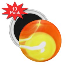 Orange Yellow Flame 5000 2 25  Button Magnet (10 Pack) by yoursparklingshop