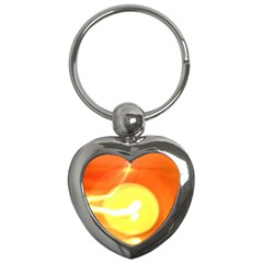 Orange Yellow Flame 5000 Key Chain (heart) by yoursparklingshop