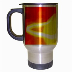 Orange Yellow Flame 5000 Travel Mug (silver Gray) by yoursparklingshop
