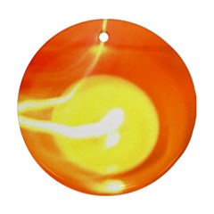 Orange Yellow Flame 5000 Round Ornament (two Sides) by yoursparklingshop
