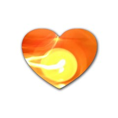 Orange Yellow Flame 5000 Drink Coasters 4 Pack (heart)  by yoursparklingshop
