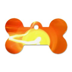 Orange Yellow Flame 5000 Dog Tag Bone (one Sided) by yoursparklingshop