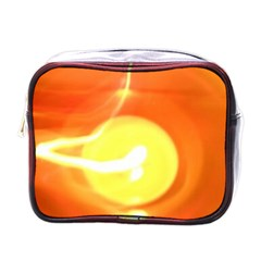 Orange Yellow Flame 5000 Mini Travel Toiletry Bag (one Side) by yoursparklingshop