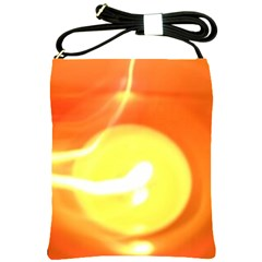 Orange Yellow Flame 5000 Shoulder Sling Bag by yoursparklingshop