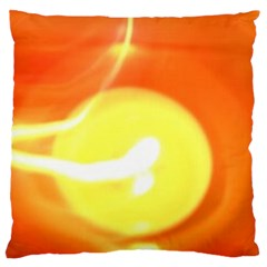 Orange Yellow Flame 5000 Large Cushion Case (two Sided)  by yoursparklingshop