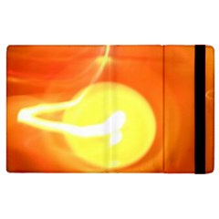 Orange Yellow Flame 5000 Apple Ipad 2 Flip Case by yoursparklingshop