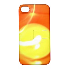 Orange Yellow Flame 5000 Apple Iphone 4/4s Hardshell Case With Stand