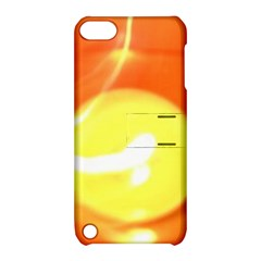 Orange Yellow Flame 5000 Apple Ipod Touch 5 Hardshell Case With Stand