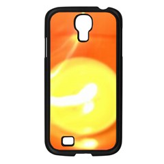 Orange Yellow Flame 5000 Samsung Galaxy S4 I9500/ I9505 Case (black) by yoursparklingshop