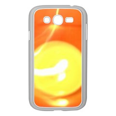 Orange Yellow Flame 5000 Samsung Galaxy Grand Duos I9082 Case (white)