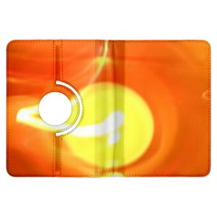 Orange Yellow Flame 5000 Kindle Fire Hdx Flip 360 Case by yoursparklingshop