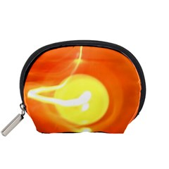 Orange Yellow Flame 5000 Accessory Pouch (small) by yoursparklingshop