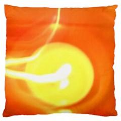 Orange Yellow Flame 5000 Standard Flano Cushion Case (one Side)
