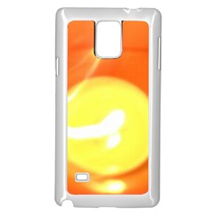 Orange Yellow Flame 5000 Samsung Galaxy Note 4 Case (white) by yoursparklingshop
