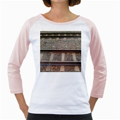 Railway Track Train Women s Long Cap Sleeve T Shirt (white)  by yoursparklingshop