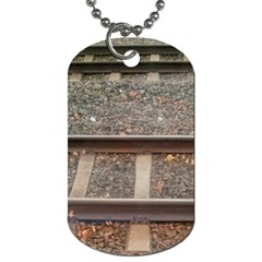Railway Track Train Dog Tag (two Sided)  by yoursparklingshop