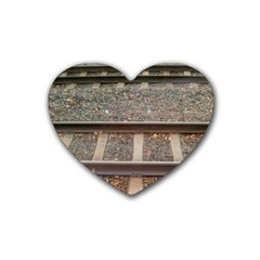 Railway Track Train Drink Coasters 4 Pack (Heart)  by yoursparklingshop