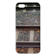 Railway Track Train Apple Iphone 5 Premium Hardshell Case by yoursparklingshop