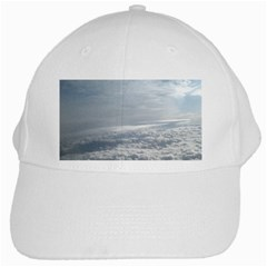 Sky Plane View White Baseball Cap