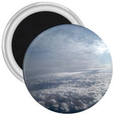 Sky Plane View 3  Button Magnet