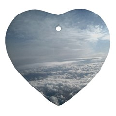 Sky Plane View Heart Ornament
