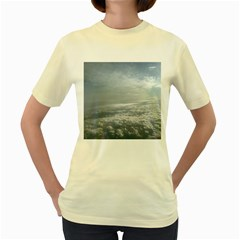 Sky Plane View Women s T Shirt (yellow)