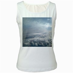 Sky Plane View Women s Tank Top (white)