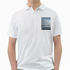 Sky Plane View Men s Polo Shirt (white)