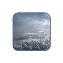 Sky Plane View Drink Coaster (square)
