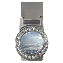 Sky Plane View Money Clip (cz)