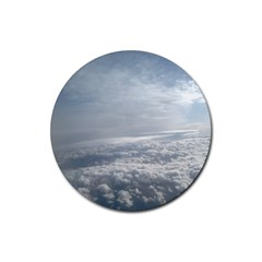 Sky Plane View Drink Coaster (round)
