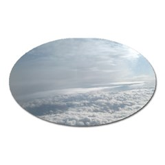 Sky Plane View Magnet (oval) by yoursparklingshop