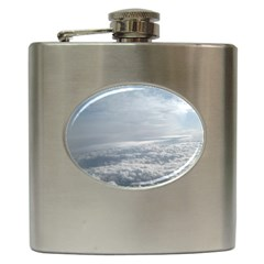 Sky Plane View Hip Flask