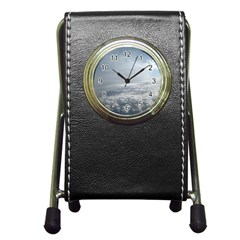 Sky Plane View Stationery Holder Clock