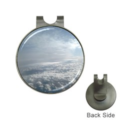 Sky Plane View Hat Clip With Golf Ball Marker