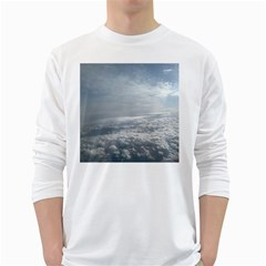 Sky Plane View Men s Long Sleeve T Shirt (white)