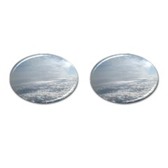Sky Plane View Cufflinks (oval)