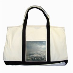 Sky Plane View Two Toned Tote Bag