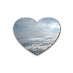 Sky Plane View Drink Coasters (heart)