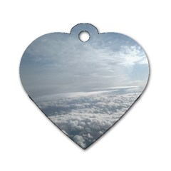 Sky Plane View Dog Tag Heart (One Sided)  by yoursparklingshop