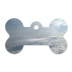 Sky Plane View Dog Tag Bone (two Sided)