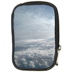 Sky Plane View Compact Camera Leather Case by yoursparklingshop
