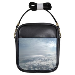Sky Plane View Girl s Sling Bag
