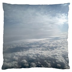 Sky Plane View Large Cushion Case (two Sided)