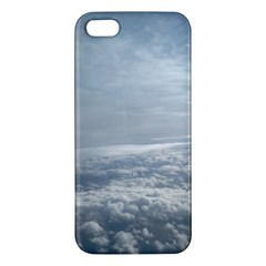 Sky Plane View Apple Iphone 5 Premium Hardshell Case by yoursparklingshop