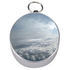 Sky Plane View Silver Compass by yoursparklingshop